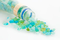 Blue crystals sea salt Royalty Free Stock Image