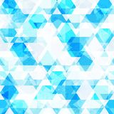 Blue crystals seamless pattern. (eps 10 Royalty Free Stock Photo