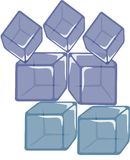 Blue cube Stock Photo
