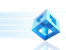 Blue cube. 3D blue cube presentation background Stock Image
