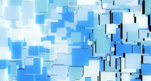 Blue Cube abstract Royalty Free Stock Images