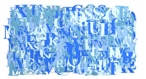 Blue Letters abstract Royalty Free Stock Photography