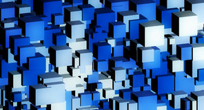 Blue Cube abstract Royalty Free Stock Image
