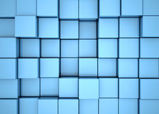 Blue cube background. Boxes cube cubes abstract background Stock Image