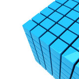 Blue cube background Royalty Free Stock Photos