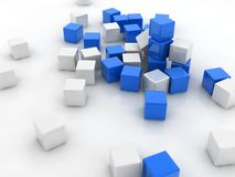Blue cube Royalty Free Stock Photos