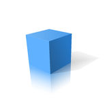 Blue cube 3D. Design element vector illustration Royalty Free Stock Photography