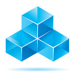 Blue cube design Stock Photo
