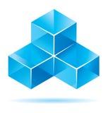 Blue cube design. For business artwork Stock Photo