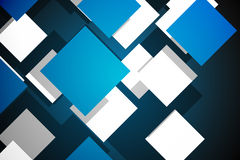 Blue cube pattern Royalty Free Stock Photos