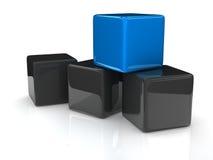 Blue cube Royalty Free Stock Photos