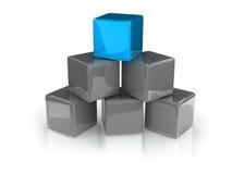 Blue cube Royalty Free Stock Photo