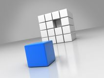 Blue cube Stock Photos