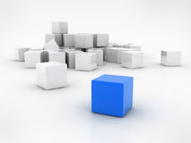 Blue cube Stock Images