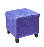 Blue cube Pouffe Stock Photo
