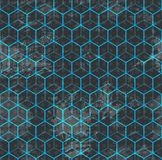Blue cube seamless Stock Image