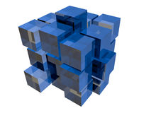 Blue cubes Royalty Free Stock Photos