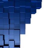 Blue cubes. Cubes on white background - 3d illustration royalty free illustration