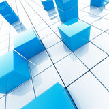 Blue cubes Stock Photography