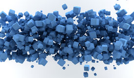 Blue cubes. Abstract background with blue colored cubes Stock Photo