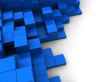 Blue cubes. Abstract 3d illustration of blue cubes background Royalty Free Stock Image