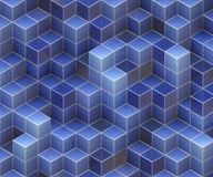 Blue cubes Royalty Free Stock Images
