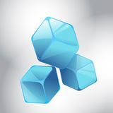Blue cubes. On abstract background Royalty Free Stock Image