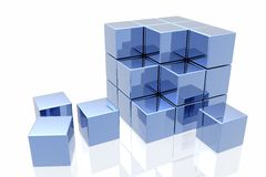 Free Blue Cubes Royalty Free Stock Photo - 4662435