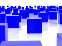 Blue cubes. High resolution image  blue cubes. 3d illustration over  white backgrounds Royalty Free Stock Image