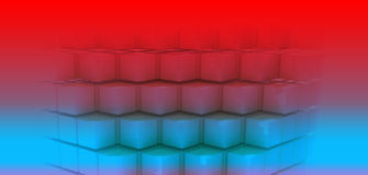 Blue cubes. Abstract background with cubes, futuristic concept Royalty Free Stock Photo
