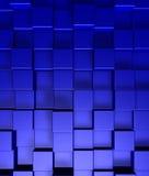 Blue cubes background. 3d illustration Stock Photo