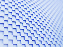Blue cubes background. Abstract blue cubes background, 3d render Stock Photo