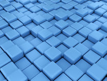 Blue cubes background. Abstract digital illustration blue cubes background Royalty Free Illustration
