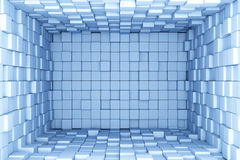 Blue cubes background. 3d render Stock Photo