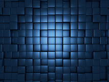 Blue cubes background. 3d render of blue cubes abstract background Stock Images