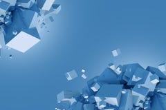 Blue Cubes Concept Stock Image