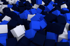 Blue cubes. 3d cg volumetric blue cubes background Stock Photography