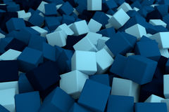 Blue cubes. 3d cg volumetric blue cubes background Stock Photo