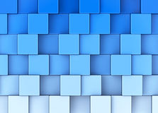 The blue cubes. 3d generated picture of some blue cubes stock illustration