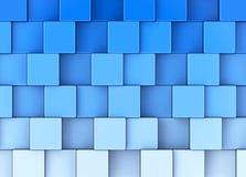 The blue cubes Stock Photos
