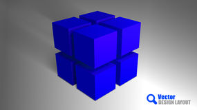 Blue Cubes Stock Images