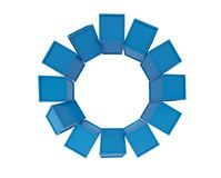 Blue cubes grouping on white background, 3d illustration.  Royalty Free Stock Photography