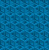 Blue cubes isometric seamless pattern. Vector geometric tileable background royalty free illustration