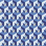 Blue cubes pattern Stock Photos