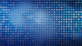 Blue cubes are pulsating on a plane 3D rendering royalty free stock photography
