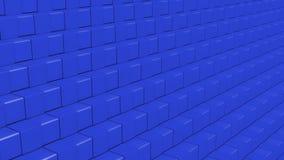 Blue Cubes - Subtle Graphic Illustrated Background stock image