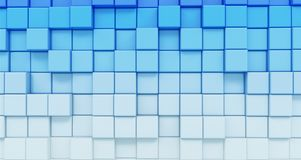 Blue cubes texture Stock Images
