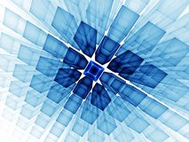 Blue cubic horizon on white Royalty Free Stock Photos