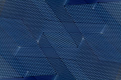 Blue Cubist Background. Abstract geometric blue patterned background Stock Image