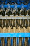 Blue cultivator Stock Photography